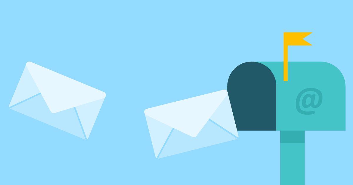 Graphic of mail box and letters representing email marketing