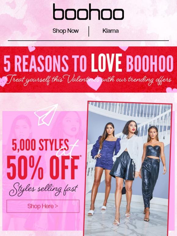 Boohoo Valentine's email