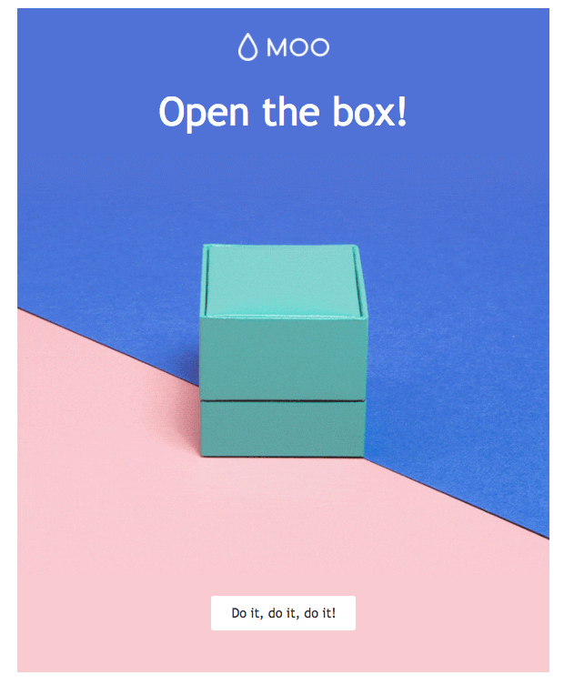 Moo.com Valentine's Day email campaign