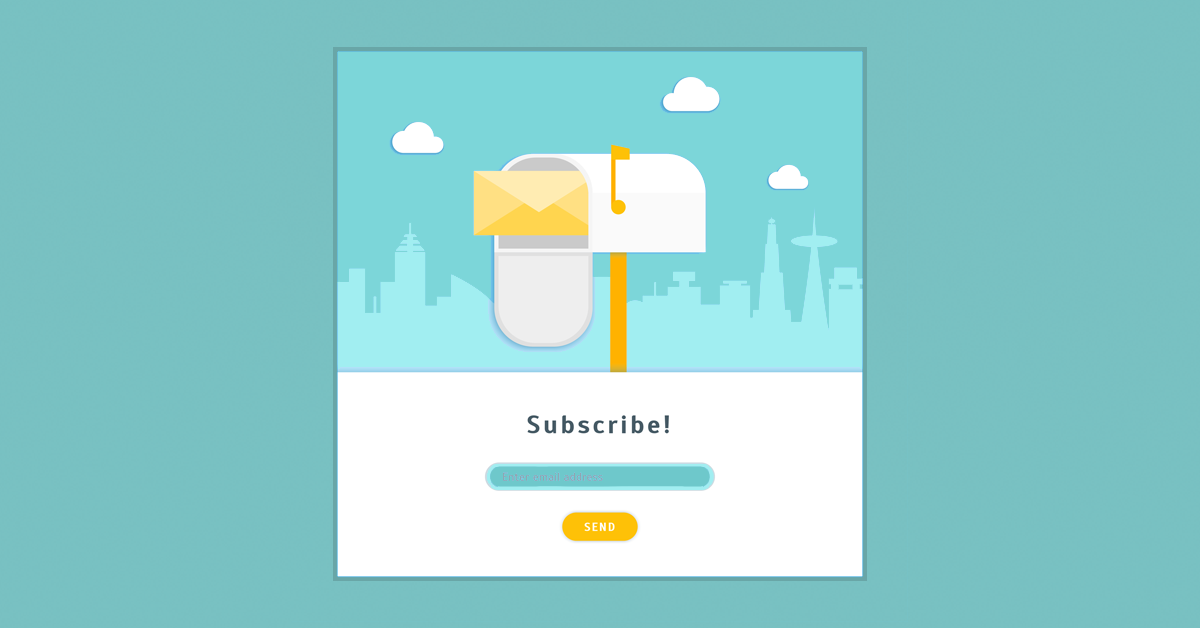 Illustration of an email opt in form