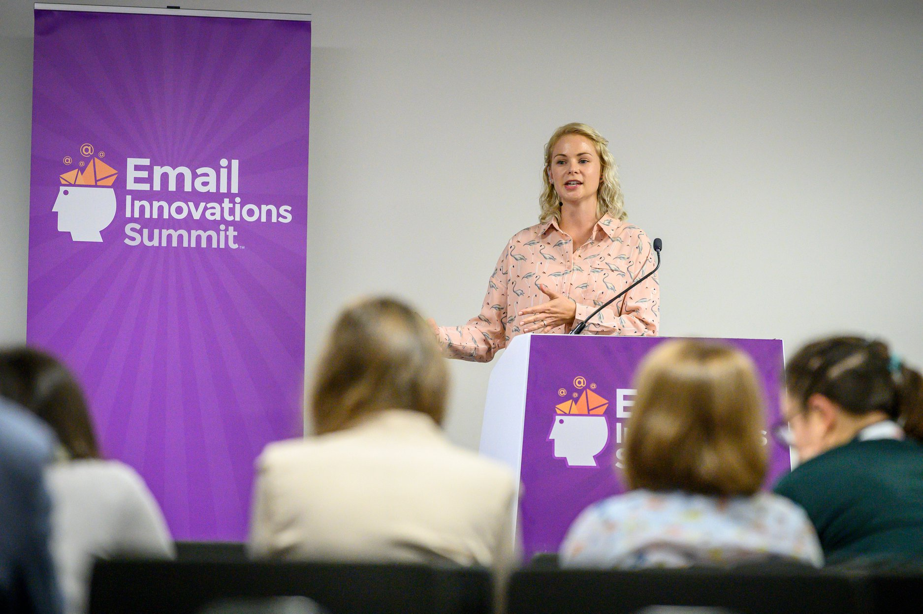 Jenna delivering a talk at the Email Innovations Summit