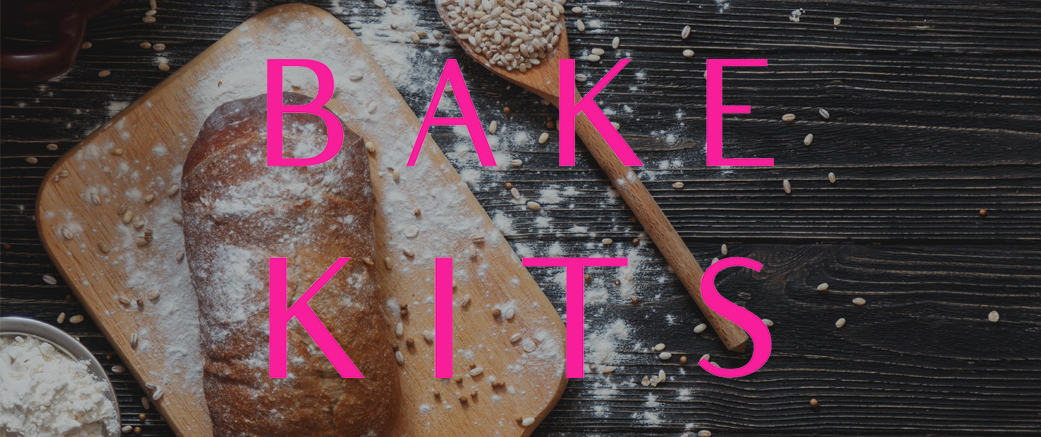 BakeKits logo over picture of bread