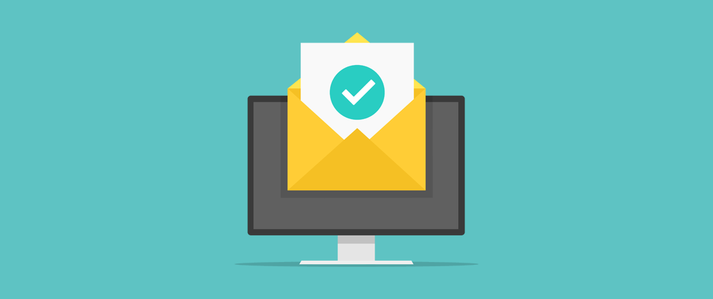 Graphic illustration to show better deliverability from email domain verification