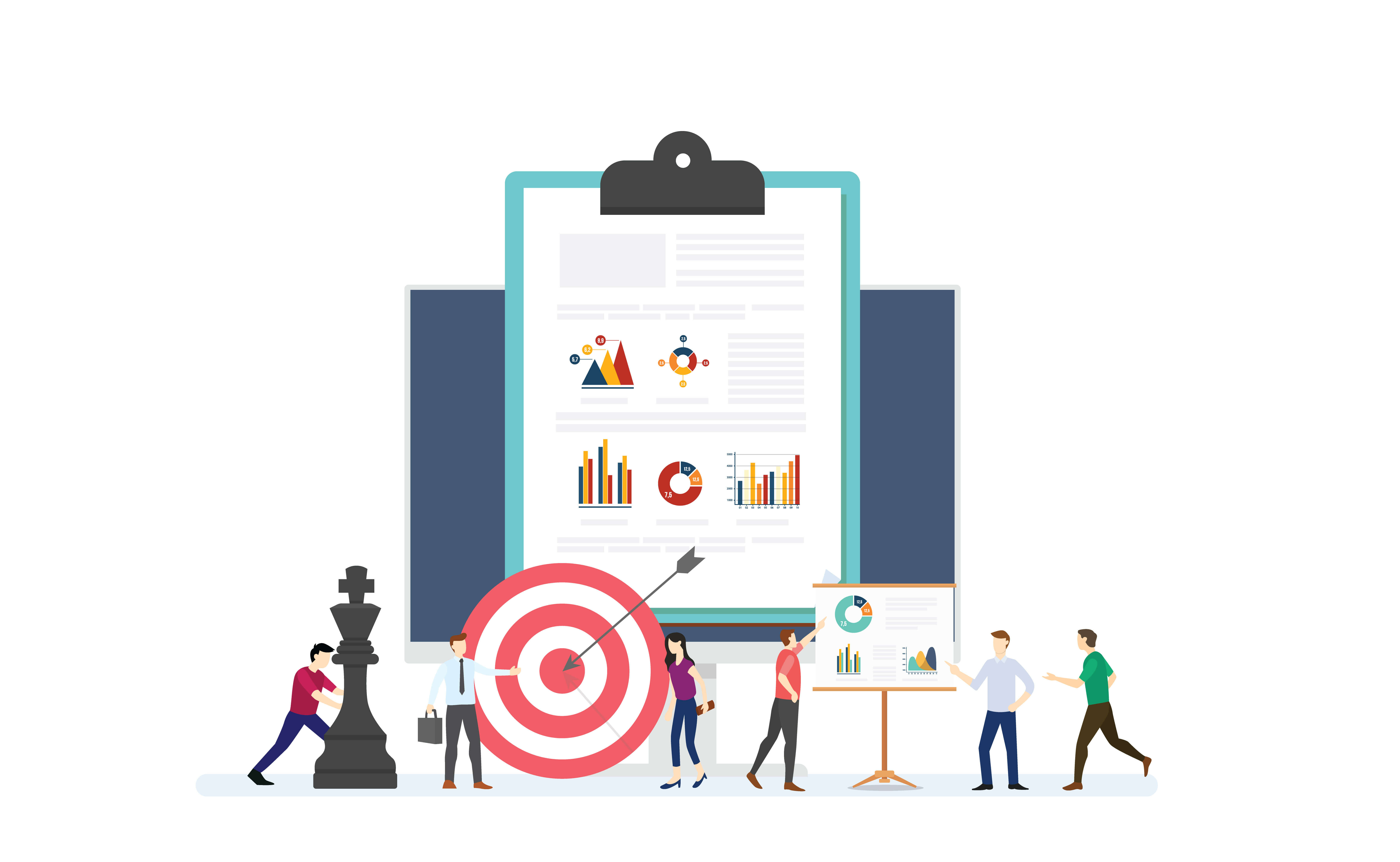 Illustration to show email marketing results that could improve with segmentation
