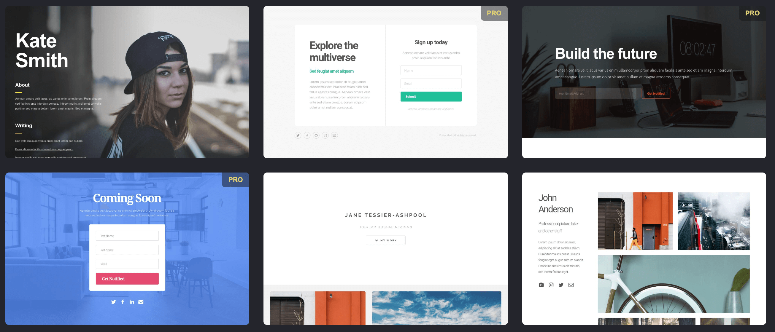 Landing page templates from Carrd - available through our integration