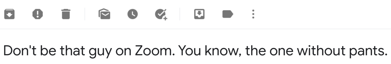 Screenshot of a funny subject line used in an email marketing campaign by men's clothing brand Huckberry