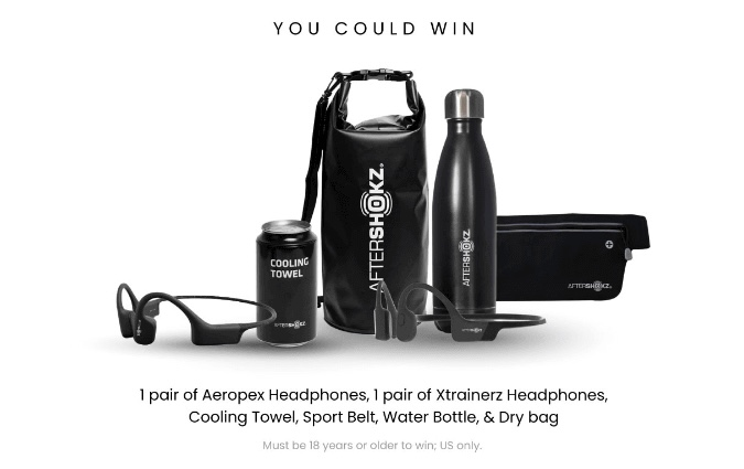 Example of a prize bundle offered by a brand as part of their UGC generation campaign