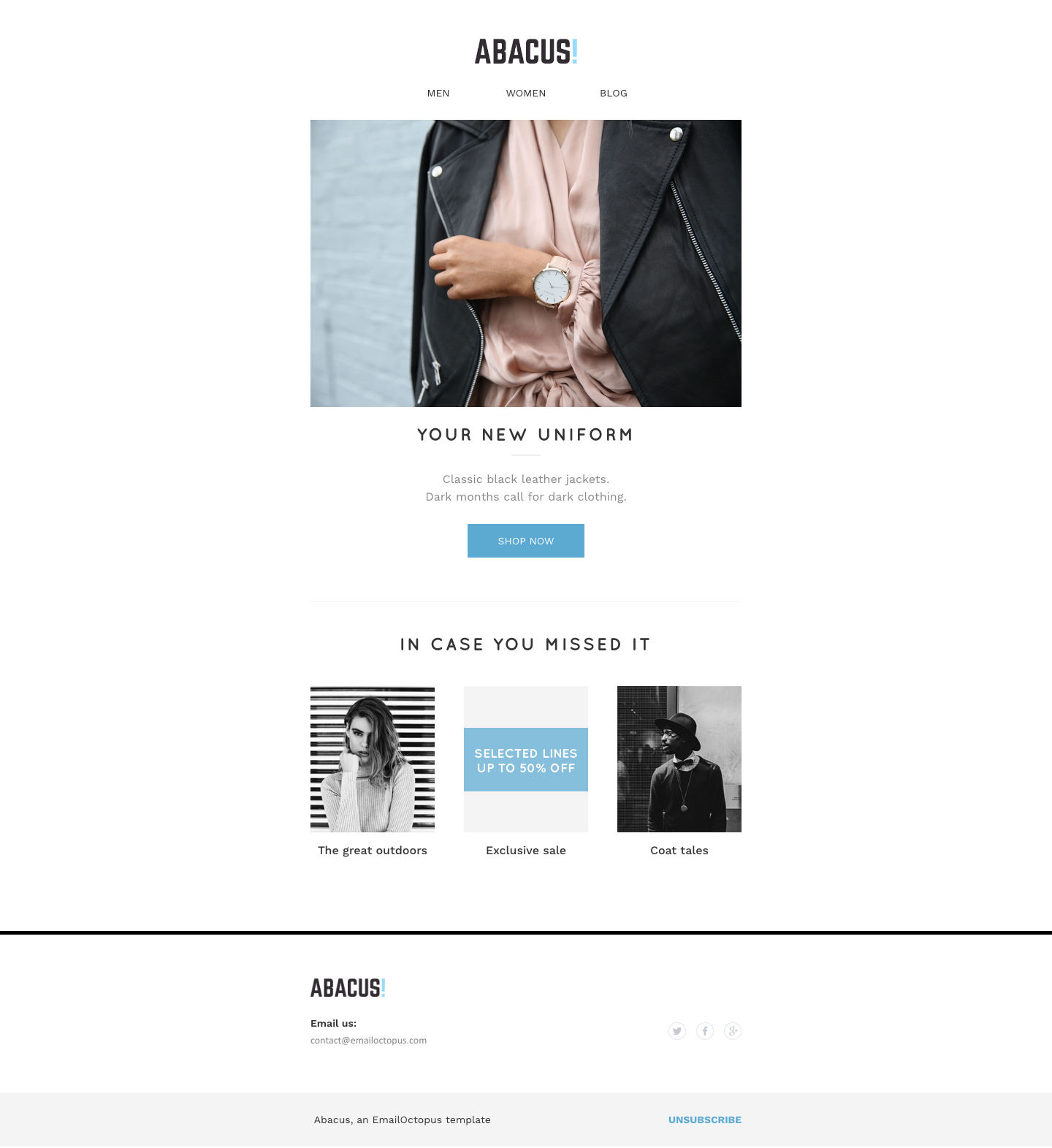 Free Email Templates, by EmailOctopus – Responsive email marketing ...