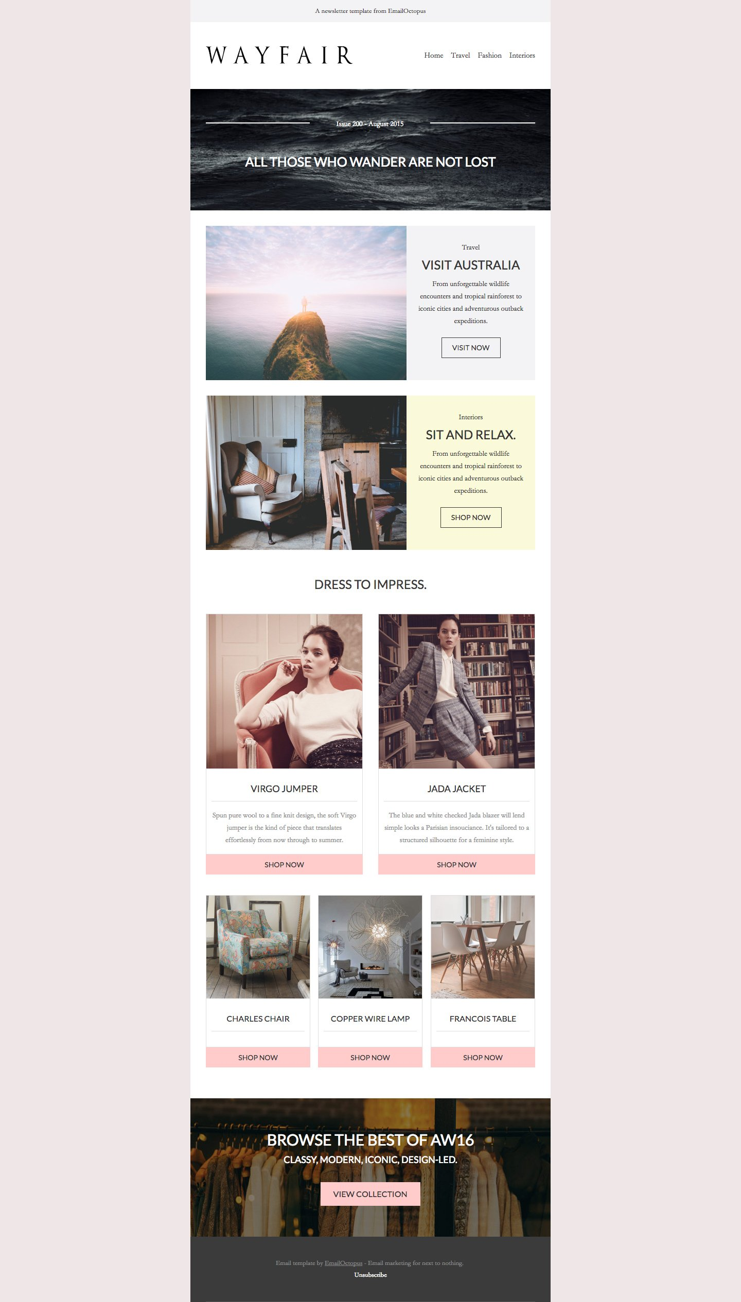 Free Email Templates By Emailoctopus Responsive Email Marketing